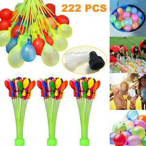 222 pcs Balloons Water Injection Summer Self Tying Rapid Beach Funny Party Toys