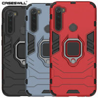 For Xiaomi Redmi Note 8 Pro Case Rugged Shockproof Armor Ring Stand Hard Cover