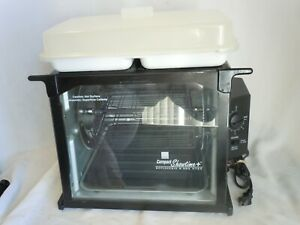 RONCO COMPACT SHOWTIME  BLACK ROTISSERIE & BBQ OVEN MODEL #3000TB