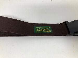 Cabelas Adjustable Elastic Wader Belt Brown