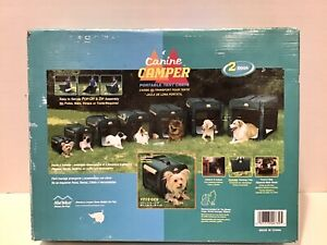 Canine Camper Portable Tent Crate by Midwest Homes for Small Pets, Cat, Compact.