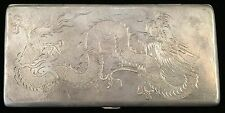 BEAUTIFUL CHINESE DRAGON LONG CIGARETTE CASE MARKED