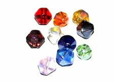 1000 FACETED CRYSTAL GLASS JEWELLERY CRAFT BEADS XILION AB 6mm 8mm BICONE