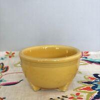 Fiestaware Sunflower Tripod Bowl Fiesta Yellow Retired Footed Small Bowl