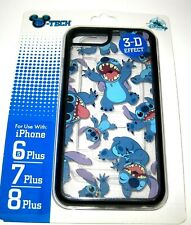 Disney Park Authentic D-Tech✿iPhone Case Stitch Clear+3D Effect 8 Plus 7+ 6S+
