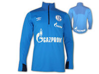 Umbro FC Schalke 04 Training Shirt mit RV blau S04 Fan Jersey Knappen Gr.S - XXL