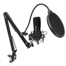 Kondensator Microphone PC Mikrofon Kit Komplett Set für Studio Aufnahme Podcast