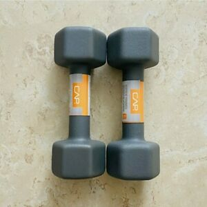NEW 🔥 CAP Neoprene Dumbbell 10 Pound Set 20 lb Total Weights New Ship Free