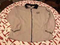 Team USA Olympic Fleece Full Zip Jacket Men's 2XL Beige