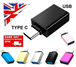 USB 3.1 TYPE C OTG Adapter Male to USB 3.0 A Female Converter Adapter Data