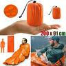 Outdoor Emergency Sleeping Bag Waterproof Thermal Survival Camping Hiking Bag-WI