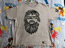 "Daniel Bryan ""Respect the Beard"" WWE/WWF Authentic T-Shirt XL YES planets champ"