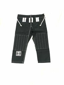 Brazilian Jiu Jitsu Judo Grappling Fighting Training MMA Cotton Pants Black 00