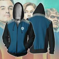 The Orville Ed Men Fashion Hoodie Sweatshirt Cosplay Costume Zip up Jacket Coat