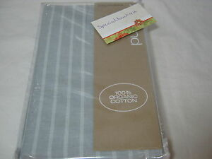 DKNY PURE COMFORT ORGANIC Cotton Standard Pillow Sham ~ AIR - Gray Stripe NEW