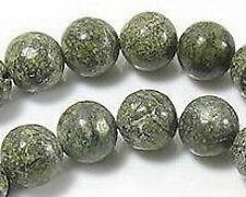 Green Lace Jasper 8mm-FREE-50 earring hooks                            (1B17)W2B