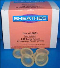 "SHEATHES Latex Ultrasound Probe Covers 1-1/4"" D  x 8"" L Non-Sterile 100/Bx 1.25"