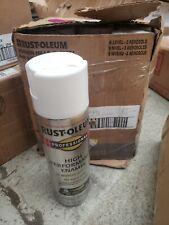 6 Pk White Gloss RustOleum Professional Fast Dry Enamel Spray Paint 7592-838