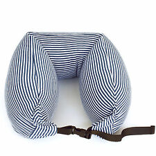 Microbead Multi-function Neck Back Support Travel Pillow w Adjustable Belt Strap