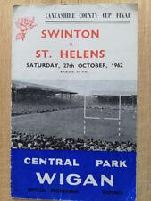 More details for tom van vollenhoven st helens legend hand-signed +13 others 1962 match programme