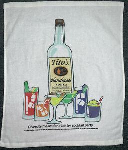 Lot of 4 Tito's Vodka Bar Towels - 15x18 - Lightweight