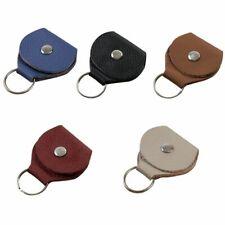 Pochette étui porte-clés en cuir avec 3 médiators picks pour guitare basse