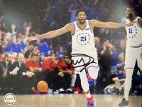 Joel Embiid Signed Autographed 8x10 Photo NBA Philadelphia 76ers COA
