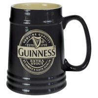 Guinness Black Ceramic Tankard Label (Optional Gift Box)