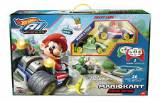 Hot Wheels Ai Starter Set Mario Kart Edition Track Set Remote Mario Sounds NEW