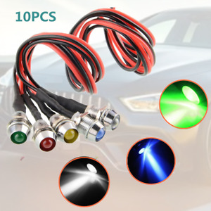 10x 12V Car Boat Marine Van LED Dash Panel Indicator Warning Light Lamp Durable