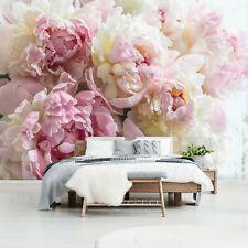 Vlies Fototapete Blumen Schlafzimmer 3D EFFEKT Pfingstrose Romantisch TAPETE XXL