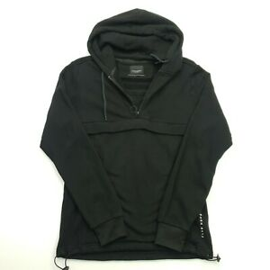 Scotch & Soda Mens  Hoodie Jumper Pullover Small Black Hooded Cotton