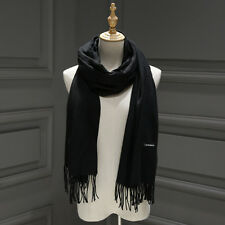 Women's Oversized Cashmere Wool Solid Pashmina Scarf Wraps Warm Blanket Scarves#