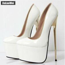 Women's Shoes Catwalk Nightclub Patent Leather Stiletto Oversize Platform 22cm