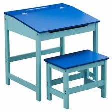 Premier Housewares Childrens Desk and Stool Set - Blue