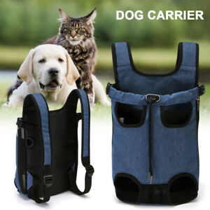 Breathable Dog Carrier Cat Puppy Pet Backpack Carry Sling Bag Canvas Nylon Mesh