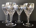 "Vintage Crystal Water Goblets 7 1/8"" Royal Leerdam Rubato Netherlands Set Of 4"