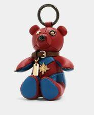 Coach Marvel Carol Danvers Collectible Bear Bag Charm Key Chain Ring 2045 NWT