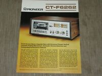 Pioneer CT-F6262 Stereo Cassette Tape Deck Original Catalogue  printed in Japan