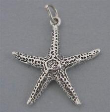 New Sterling Silver Charm Pendant STAR FISH Starfish Nautical Ocean Beach SC299