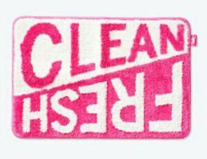 "VS PINK fresh & clean bathmat brand new 25""x17"""