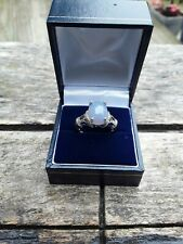 GEMS TV BLUE CHALCEDONY SILVER RING WITH CERTIFICATE OF AUTHENTICITY