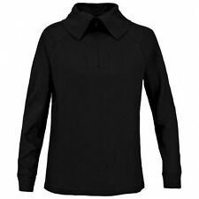 Cotton Polo Neck Patternless Other Women's Tops
