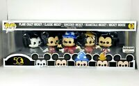 Funko POP Mickey Mouse 5-Pack Amazon Exclusive 50th Walt Disney Archives NEW