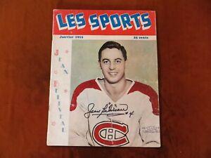 Vintage Jean Beliveau Signed Les Sports Magazine January 1955 Hockey