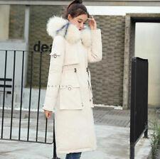 Uk Women Winter Coat Down Jacket Ladies Fur Hooded Jackets Long Puffer Parka