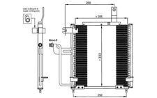 NRF Condensador de aire acondicionado 35744