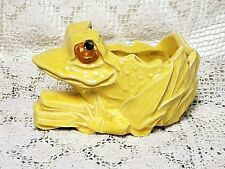 Rare Vintage McCoy Pottery Yellow Frog/Toad Planter