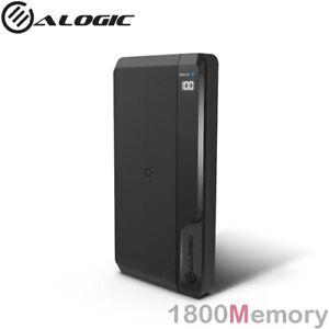 Alogic USB-C Power Bank Ultimate 10000mAh 27W Wireless Fast Charging USB A Black