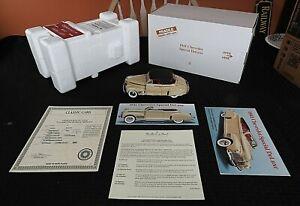 Danbury Mint 1/24 1941 Chevrolet Spezial Luxus Cabrio 1998 Titel Kiste Neu